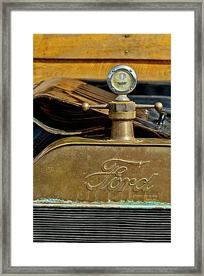 1915 Ford Depot Hack Hood Ornament  Framed Print by Jill Reger