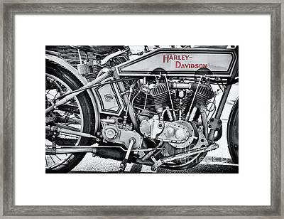 1915 Harley Davidson 11f Monochrome Framed Print
