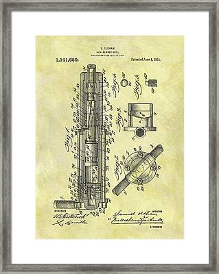 1915 Jack Hammer Patent Framed Print by Dan Sproul