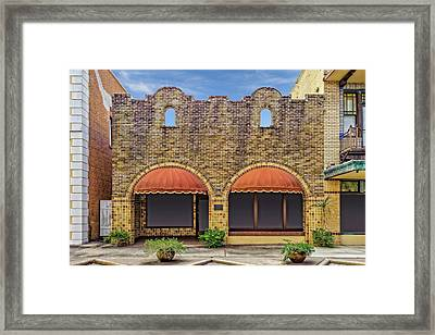 1915 Western Union Building Lake Wales Florida  -  Wutelegraph877 Framed Print
