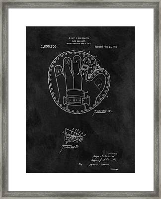1916 Baseball Mitt Patent Framed Print by Dan Sproul