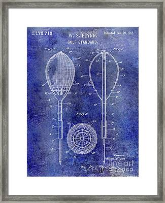 1916 Golf Standard Patent Blue Framed Print by Jon Neidert