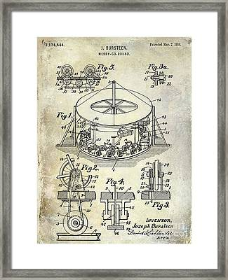 1916 Merry Go Round Patent Framed Print
