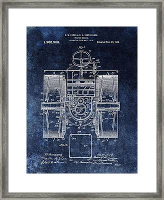 1916 Tractor Illustration Framed Print by Dan Sproul