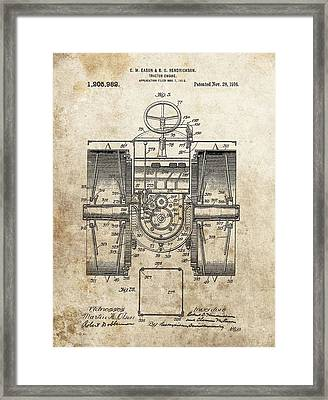 1916 Tractor Patent Framed Print