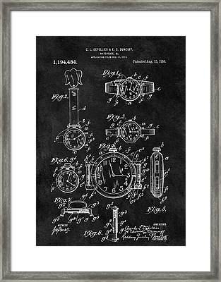 1916 Watch Design Framed Print by Dan Sproul