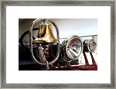 1917 American La France Type 12 Fire Engine . Bell And Lights Framed Print by Wingsdomain Art and Photography