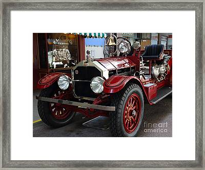 1917 American La France Type 12 Fire Engine Framed Print by Wingsdomain Art and Photography