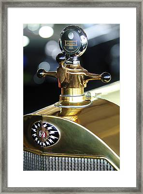 1917 Owen Magnetic M-25 Hood Ornament Framed Print by Jill Reger