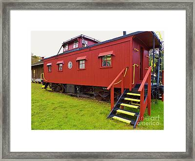 1917 Red Caboose Framed Print by D Hackett