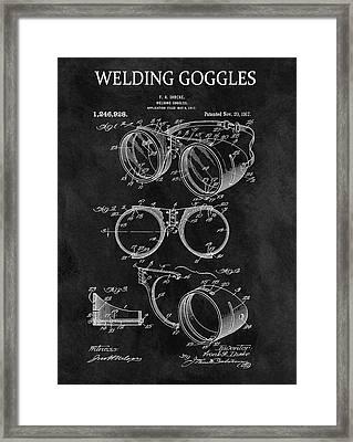 1917 Welder Goggles Framed Print
