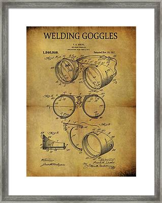 1917 Welding Goggles Patent Framed Print