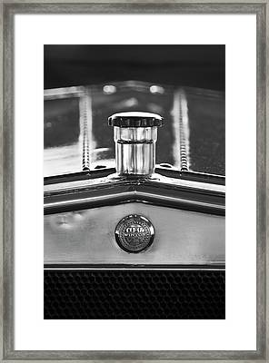 1917 Winton Six-33 Sport Touring Hood Ornament 2 Framed Print by Jill Reger
