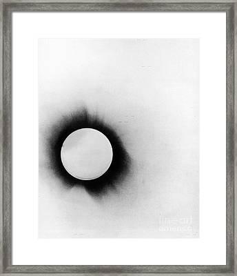 1919 Solar Eclipse Framed Print