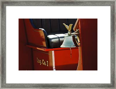 1919 Volunteer Fire Truck Eng. Co. 7 Framed Print