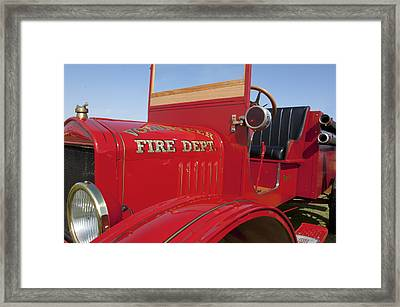 1919 Volunteer Fire Truck Framed Print by Jill Reger