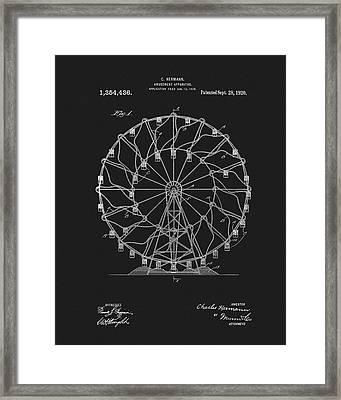 1920 Ferris Wheel Framed Print
