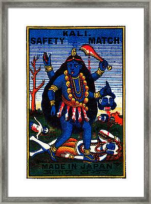 1920 Hindu Goddess Kali Framed Print by Historic Image