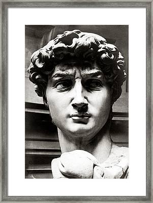 1920 Michelangelo's Sculpture Of David Framed Print