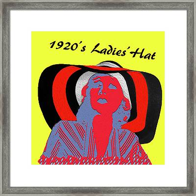 1920s Ladies Hat Framed Print by Bruce Iorio