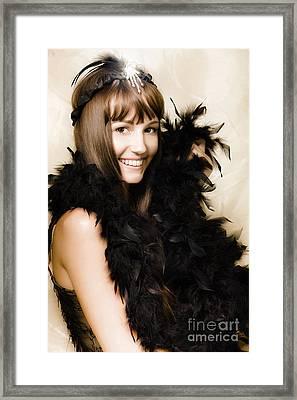 1920s Vintage Cabaret Girl Framed Print