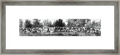 Framed Print featuring the photograph 1921 Japanese Americans In Los Angeles California by Historic Image