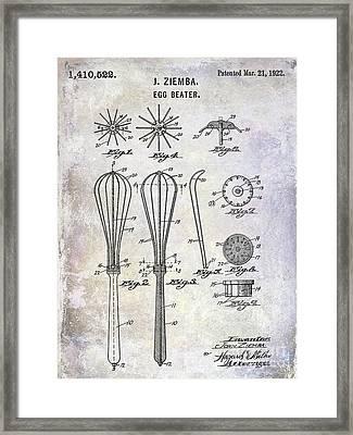1922 Egg Beater Patent Framed Print