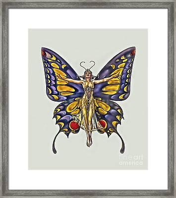 1922 Flapper Butterfly Framed Print by Walt Foegelle