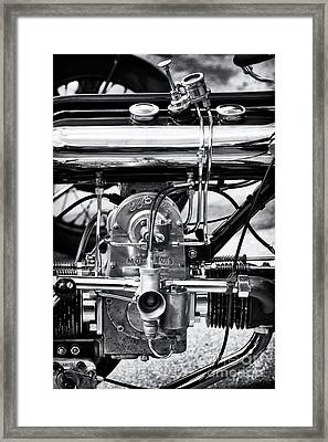 1922 Model Ws Brough Monochrome Framed Print by Tim Gainey
