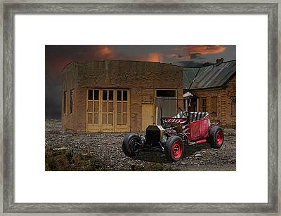 1922 T-bucket Rat Rod Framed Print by Nick Gray