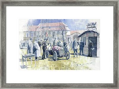 1922 Zbraslav Jiloviste Bugatti T13 Brescia Joan Halmovici Winner  Framed Print