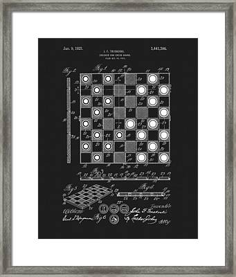 1923 Checkers And Chess Board Framed Print by Dan Sproul