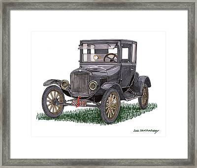 1923 Ford Model T Coupe Framed Print by Jack Pumphrey