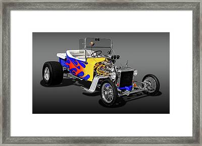 1923 Ford T-bucket  -  1923fordtbucfa9558 Framed Print by Frank J Benz
