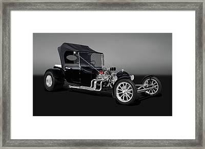 1923 Ford T-bucket  -  23fdtbucketgry9555 Framed Print by Frank J Benz