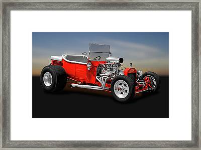 Framed Print featuring the photograph 1923 Ford T-bucket Roadster    -    1923fordtbucket170588 by Frank J Benz
