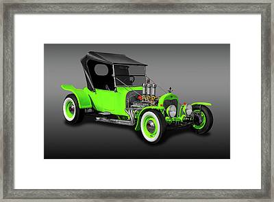 1923 Ford T-bucket Roadster  -  1923fdtbucketfa9997 Framed Print by Frank J Benz