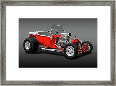 Framed Print featuring the photograph 1923 Ford T-bucket Roadster  -  1923fordtbucketfa170588 by Frank J Benz