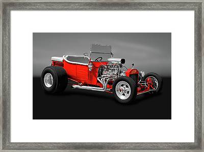 Framed Print featuring the photograph 1923 Ford T-bucket Roadster   -   1923fordtbucketgry170588 by Frank J Benz