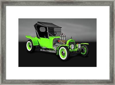 1923 Ford T-bucket Roadster  -  1923tbucketfordgry9997 Framed Print by Frank J Benz