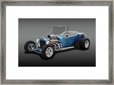 1923 Ford T-bucket Roadster  - 23fdtbucketrdstrfa170297 Framed Print by Frank J Benz