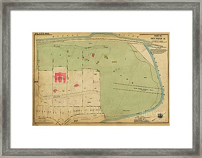 Framed Print featuring the photograph 1923 Inwood Hill Map  by Cole Thompson