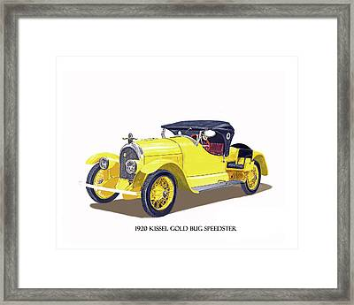 Framed Print featuring the painting 1923 Kissel Kar  Gold Bug Speedster by Jack Pumphrey