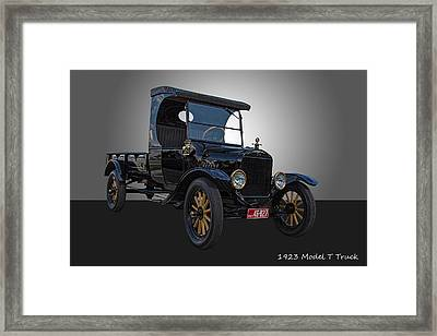 1923 Model T Ford Truck Framed Print by Nick Gray