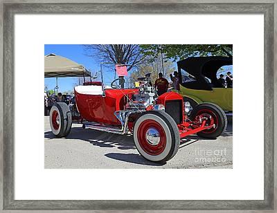 1923 Red Ford Model T Framed Print by Blaine Nelson