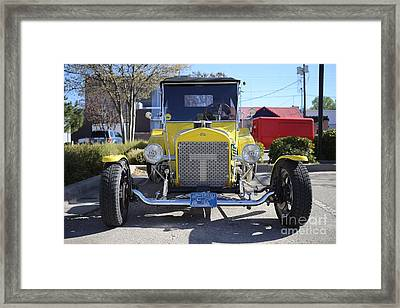 1923 Yellow Ford Model T Front Framed Print by Blaine Nelson