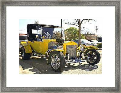 1923 Yellow Ford Model T Side Framed Print by Blaine Nelson