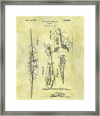 1924 Airplane Patent Framed Print
