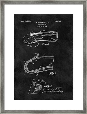 1924 Ballet Slipper Patent Framed Print by Dan Sproul