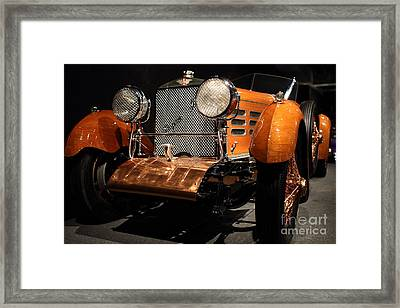 1924 Hispano Suiza Dubonnet Tulipwood . Grille Angle Framed Print by Wingsdomain Art and Photography